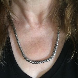 Beautiful 23 inch stainless steel necklace